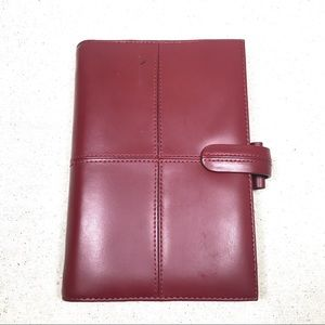 Accessories - FILOFAX Personal Cross Burgundy Leather Planner